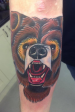 traditional colour bear tattoo